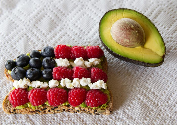 Celebrate with Red White & Blue Avocado Toast