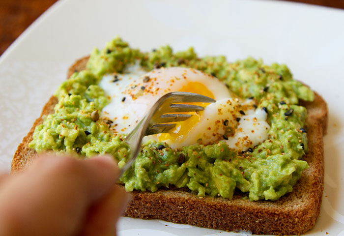 Eating Egg & Avocado Toast 2