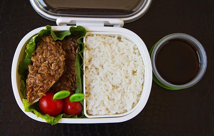 Baked Chicken Katsu bento by Rachel Hutchings