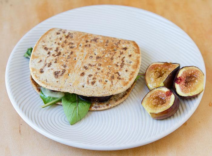 Fig & Jarlsberg Cheese Flatbread Sandwich