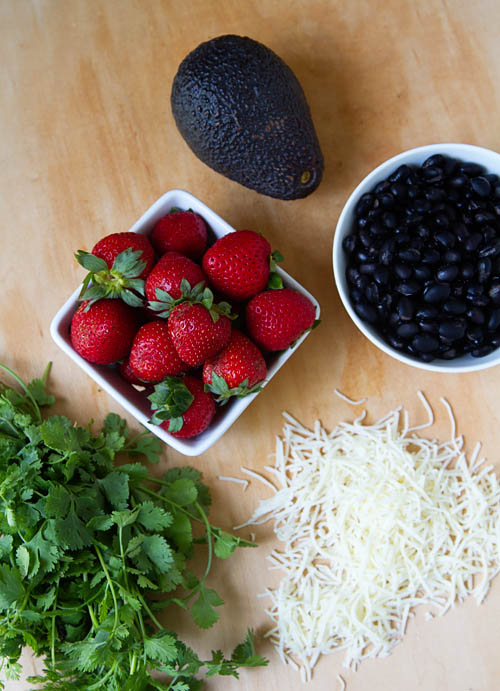 Ingredients for Strawberry Quesadillas