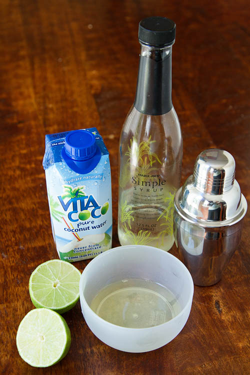 Ingredients for making a Fuji Sour Mocktail