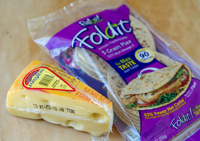 Jarlsberg Cheese and Foldit Flatout Flatbread