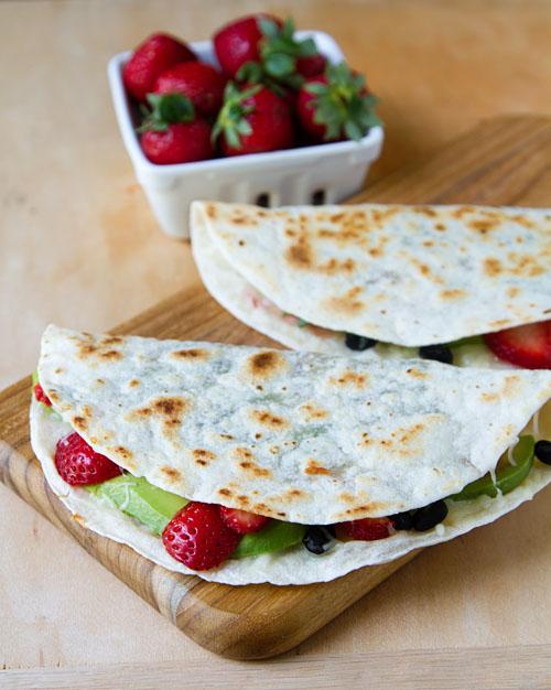 Back-to-School Strawberry Quesadillas