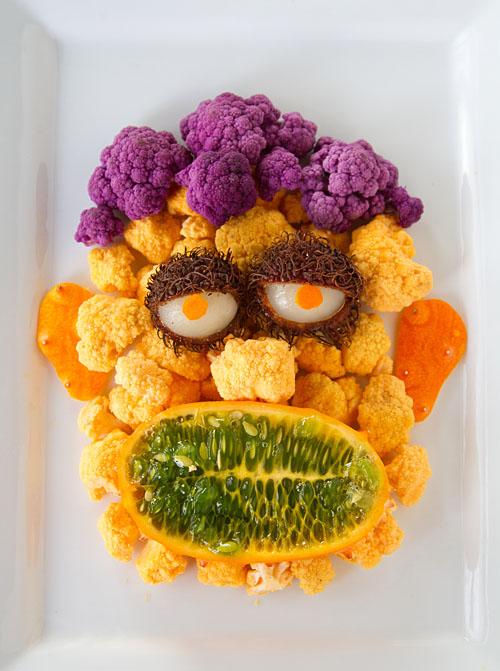 Halloween Fruit & Veggie Monster