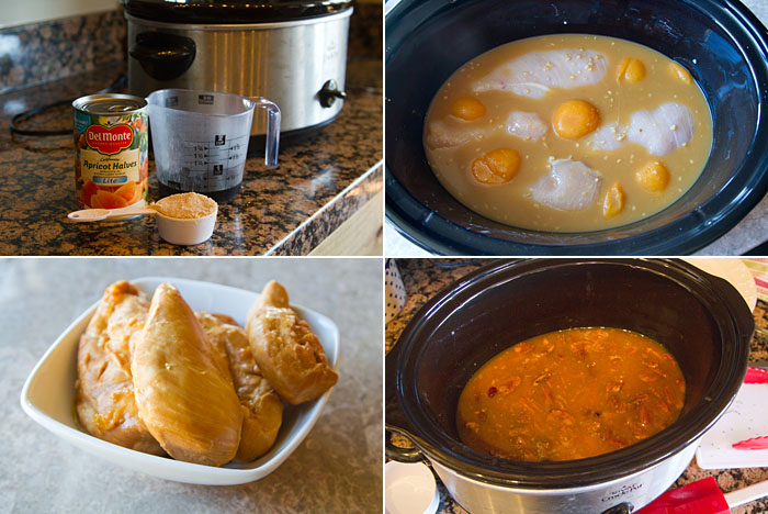 Making Slow Cooker Apricot Chicken