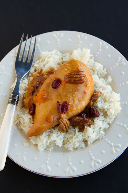 Slow Cooker Apricot Cranberry Pecan Chicken