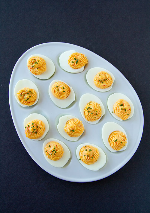 Sweet & Spicy Deviled Eggs 2