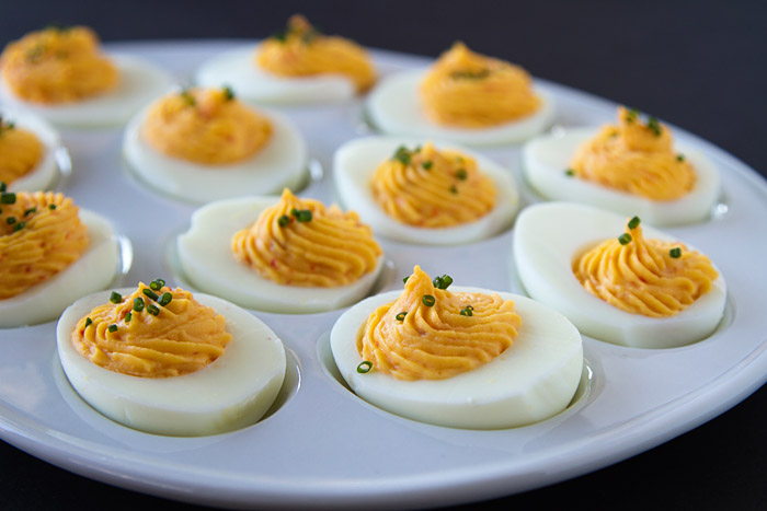 Sweet & Spicy Deviled Eggs