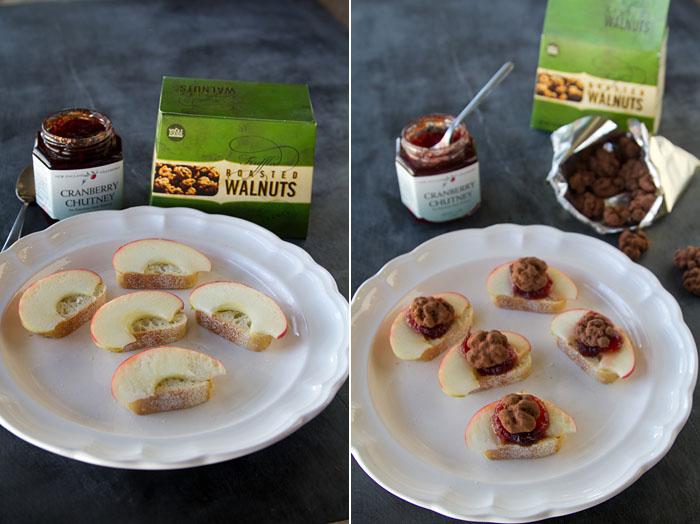 Apple Truffled Walnut Canapes