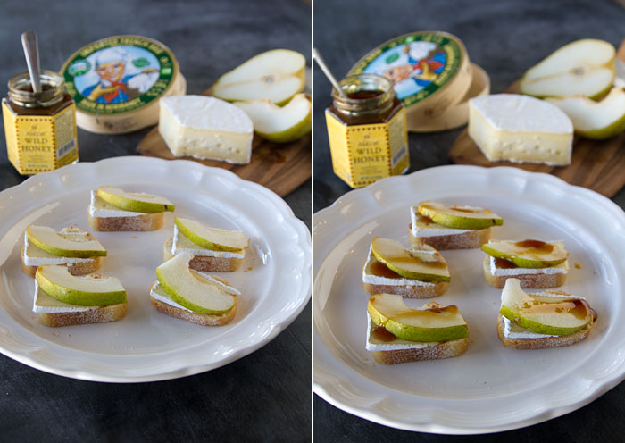 Brie & Pear Canapes