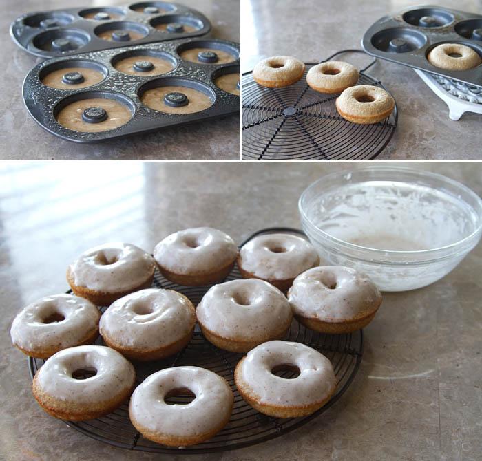 Making Eggnog Doughnuts
