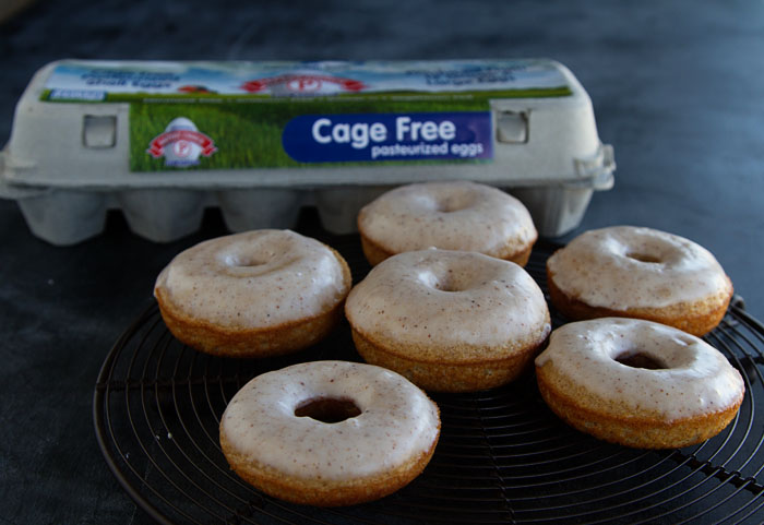 Making eggnog doughnuts with Safest Choice Eggs