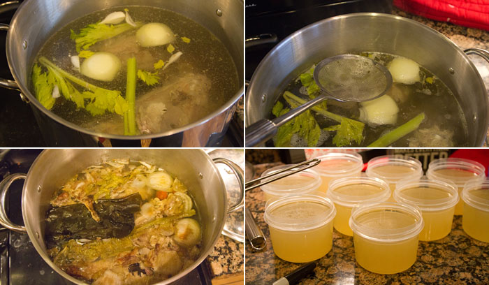 Making turkey stock