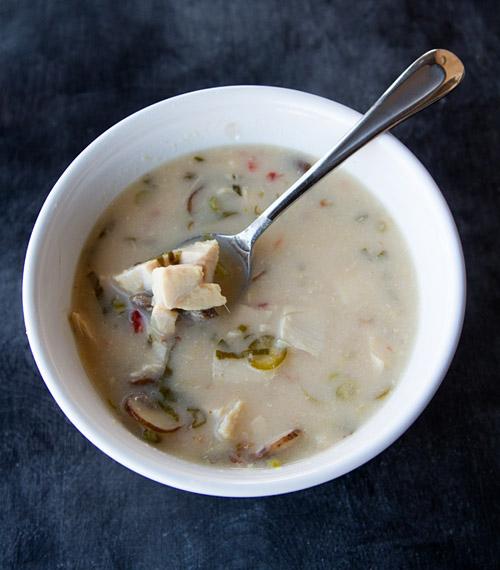 Turkey Tom Kha Gai soup
