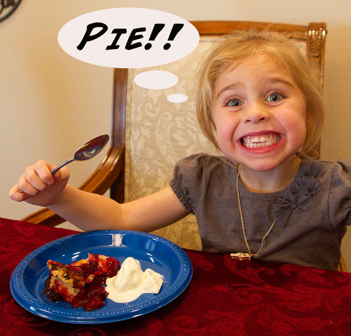 Bug loves pie