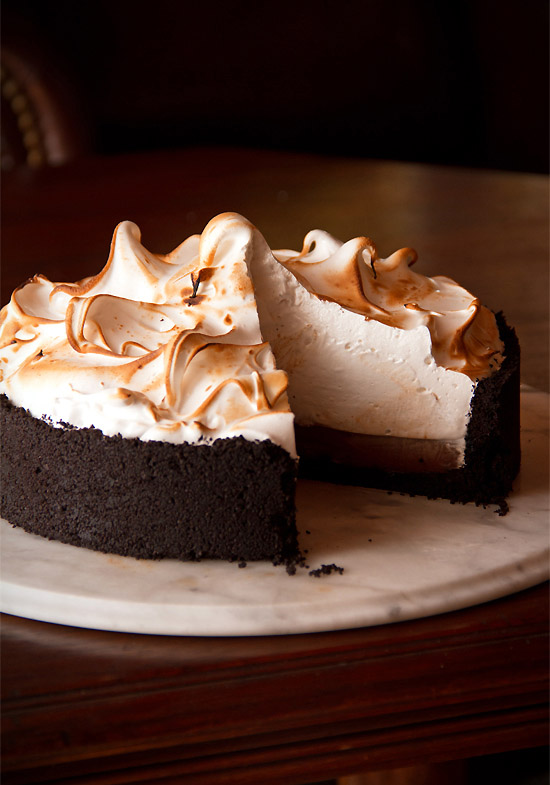 Greg's Chocolate Cream Pie with Swiss Meringue
