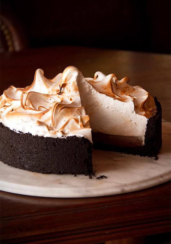 Greg's Chocolate Cream Pie with Swiss Meringue