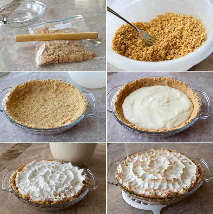 Making Lemon Icebox Pie
