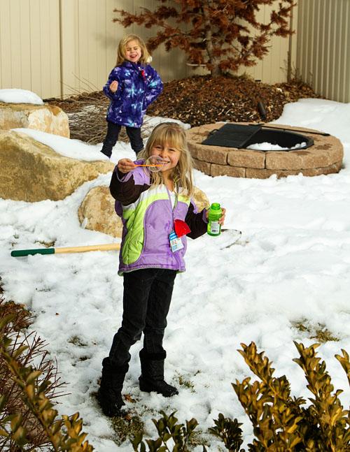 The Fujilings enjoying playing outside