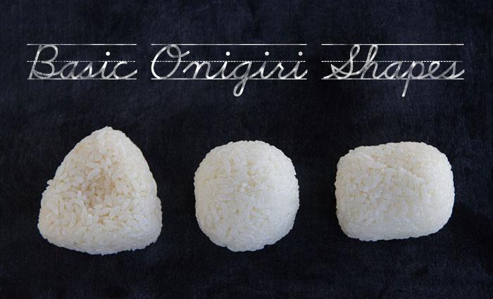 Basic Onigiri Shapes