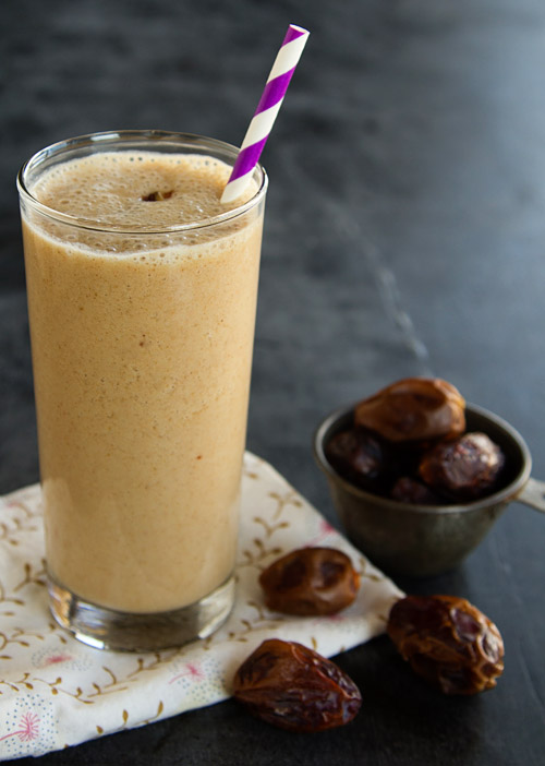 Dairy Free Banana Almond Date Shake
