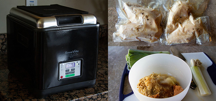 Making Sous Vide Ginger Chicken