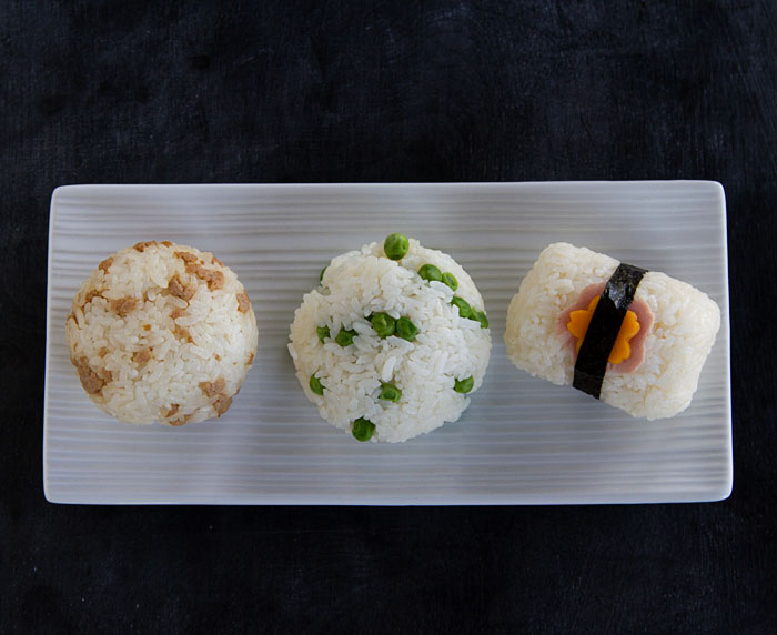 Ball Onigiri and Barrel Onigiri Examples