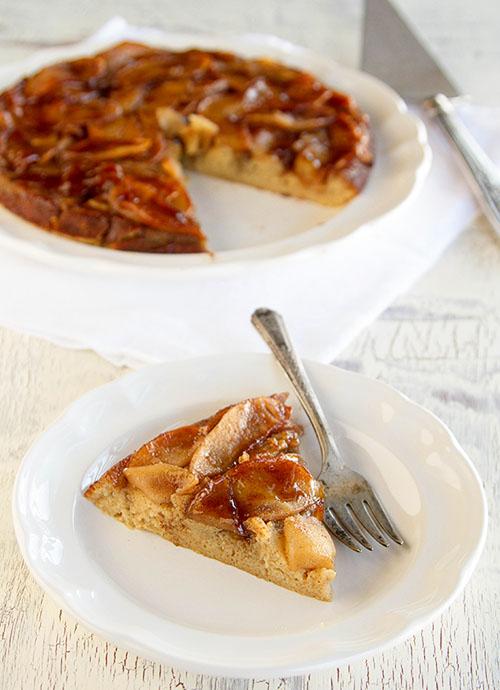 A slice of Cinnamon Apple Pancake