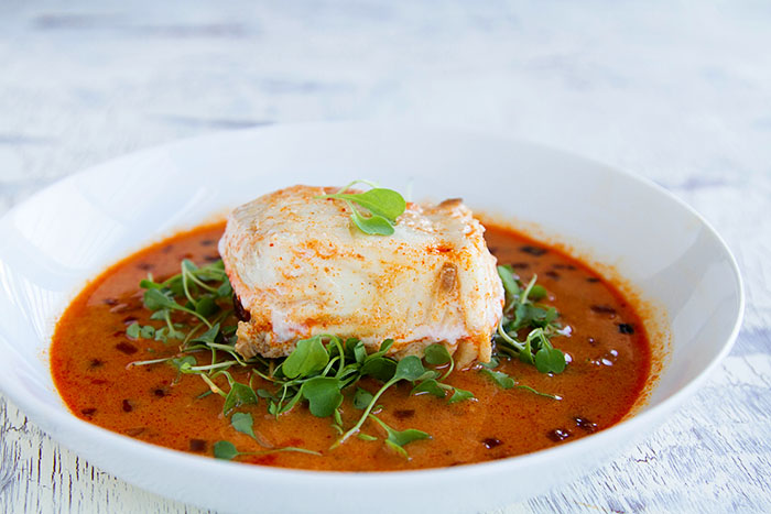Coconut Curry Poached Halibut 3