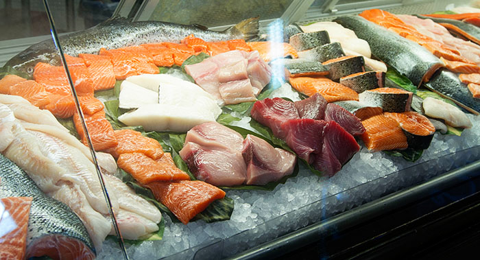 Fresh fish at Harmons grocery