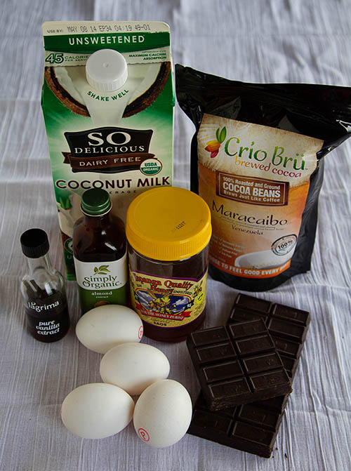 Ingredients for Paleo Chocolate Pots de Creme