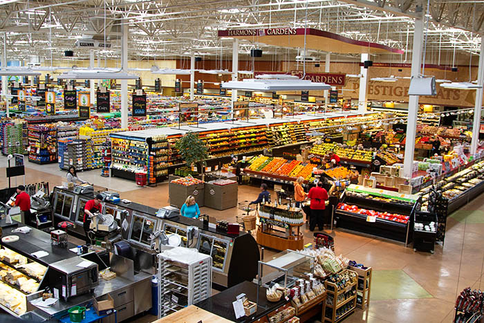 Inside Harmons grocery store