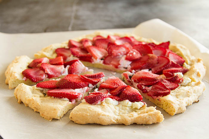 Savory Strawberry Chevre Flatbread Pizza