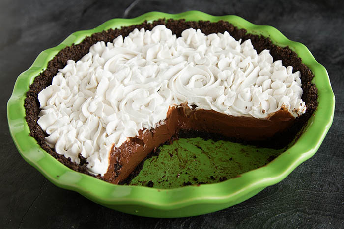 Part of a Paleo Chocolate Silk Pie
