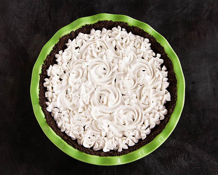 Top view of Paleo Chocolate Silk Pie