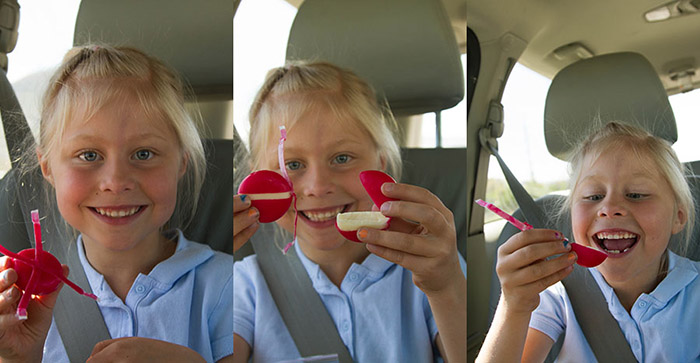 Being silly with Mini Babybel Cheese