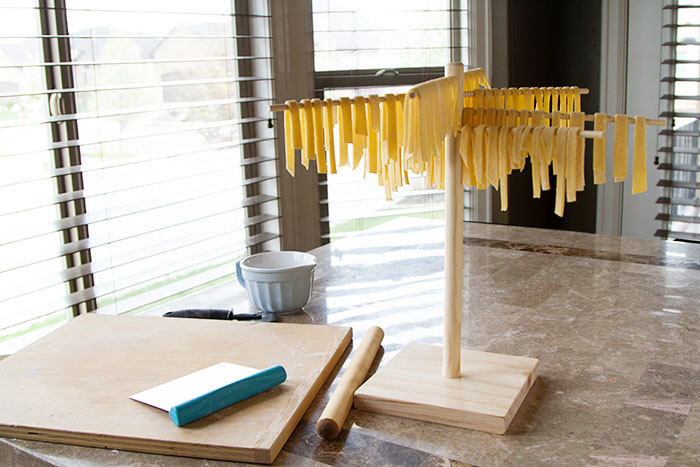 Drying homemade noodles
