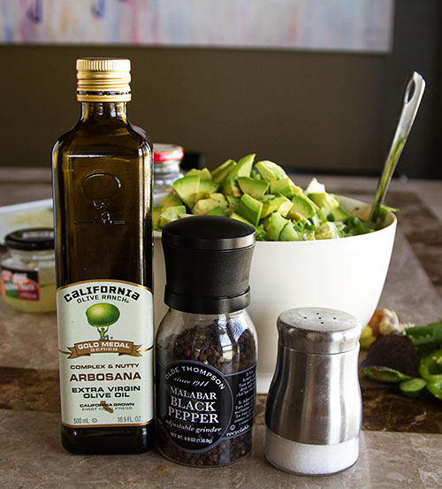 Ingredients for chopped salad dressing
