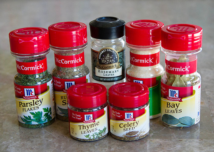 McCormick spices for making chicken noodle soup