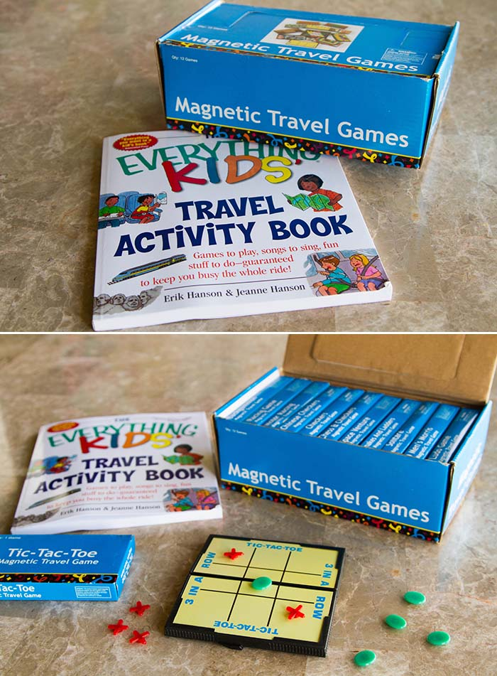 Travel Activity Book and Magnetic Travel Games