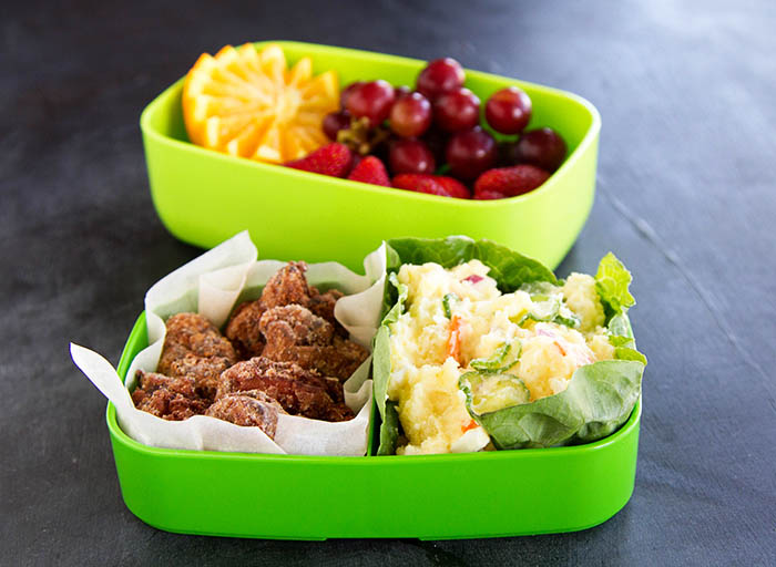 Japanese Potato Salad and Chicken Karaage Bento