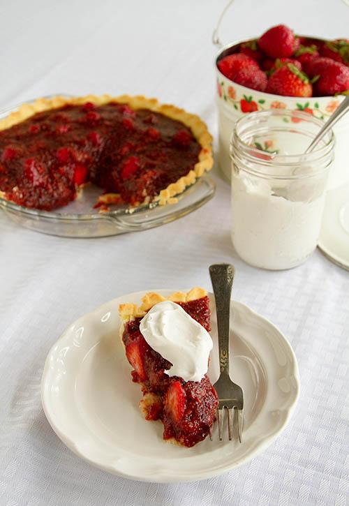 A slice of strawberry pie 3