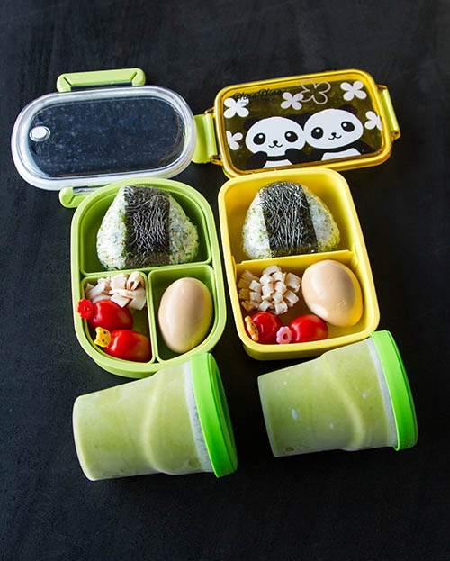 Bento Box with Green Monster Smoothies