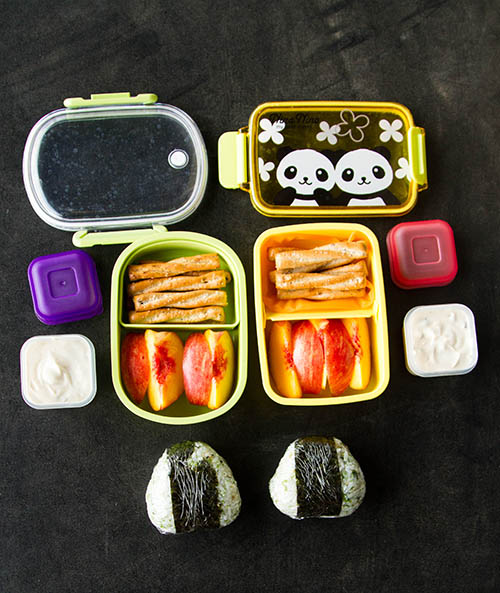Bento with Cookie Dough Fruit Dip