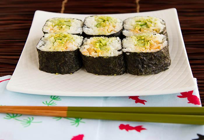Cucumber Guacamole Sushi