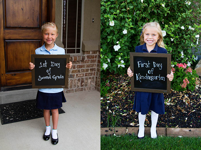 First day of second grade and kindergarten