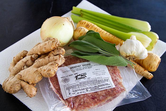 Ingredients for Pork Parsnip Hash