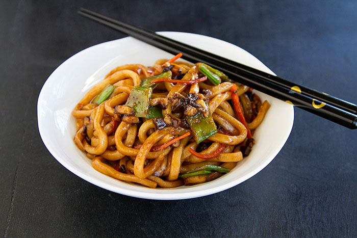 Udon Noodles (Yaki Udon) Recipe — Dishmaps