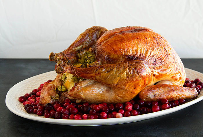 Thanksgiving Lemon and Fennel Salt Roasted Turkey